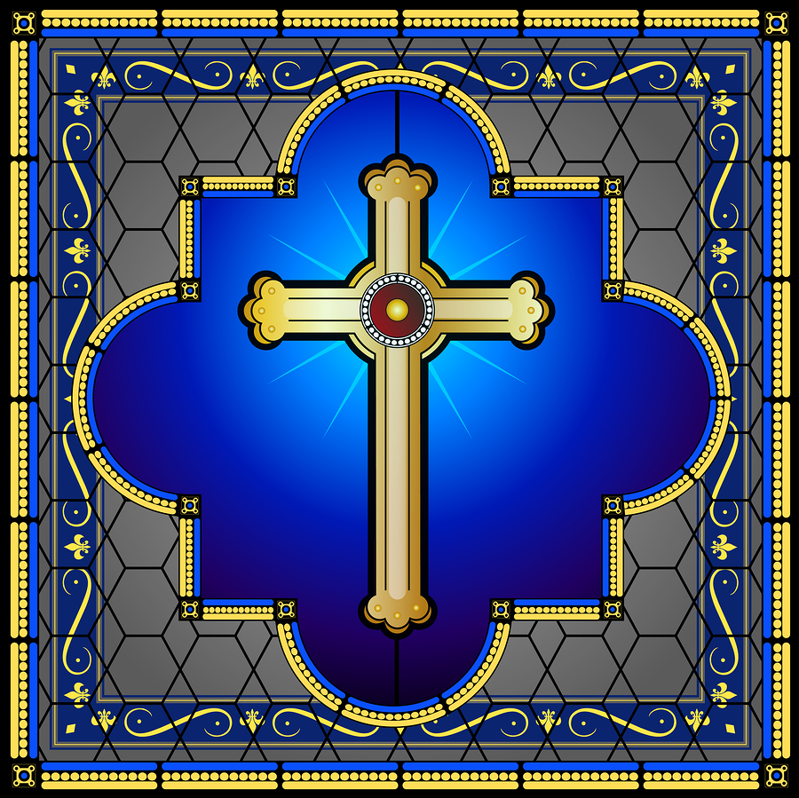 bigstock-Stained-glass-cross-with-patte-54307430